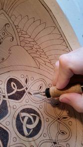 Fire Oak Studio Odin's Bowl WIP Closeup